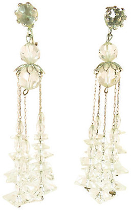 One Kings Lane Vintage 1950s Crystal Chandelier Earrings - Neil Zevnik