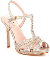 Kate Spade Feodora Glitter T-Strap Ankle Strap Dress Sandals