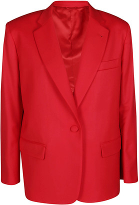 ATTICO Red Virgin Wool Bianca Blazer