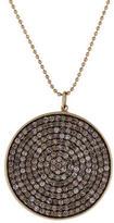 Sydney Evan Pavé Brown Diamond Disc Pendant Necklace