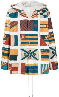 Lanvin Flags-print hooded parka