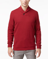 Tasso Elba Men's Big and Tall Honeycomb Textured Shawl-Collar Pullover, Only at Macy's