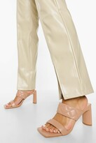 Thumbnail for your product : boohoo Quilted Double Strap Mule