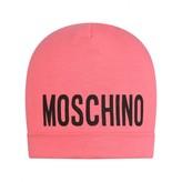 Moschino MoschinoGirls Fuchsia Jersey Baby Hat