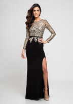 Terani Couture 1723E4290 Gilded Embroidered Long sleeves Evening Gown