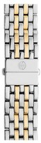 Michele Women's Deco 18Mm Two-Tone Bracelet Watchband