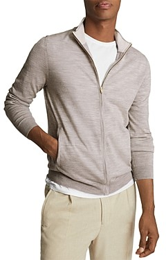 Reiss Wool Funnel Neck Zip-Up Sweater