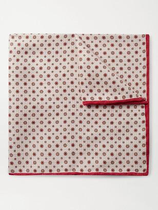 Brunello Cucinelli Printed Silk-Jacquard Pocket Square