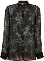 Etro sheer floral print shirt