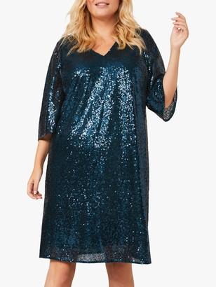 Studio 8 Gia Sequin Embellished Shift Dress, Emerald