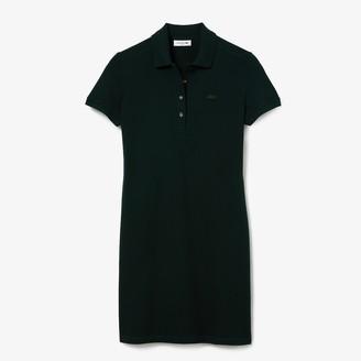 Lacoste Women's Stretch Cotton Pique Polo Dress