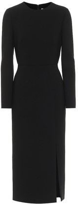 Valentino Stretch-wool double crepe midi dress