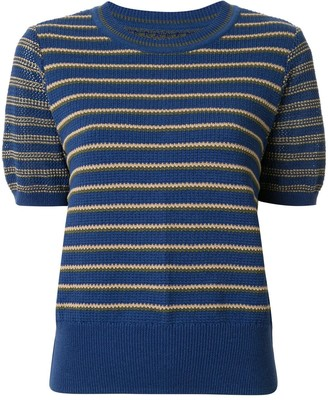 Coohem knitted retro wave top