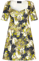 Anastasia Beverly Hills Green and White Sleeved Floral Print Dress green