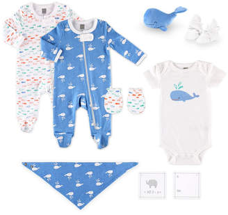 The Peanut Shell Ps By The Baby Boy 10-Piece Layette Gift Set