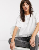 Thumbnail for your product : Weekday Flo balloon sleeve blouse in off