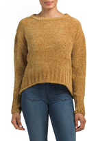 Juniors Hi-lo Chenille Yarn Sweater