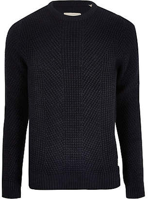 Jack and Jones navy knit jumper