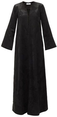 Racil Medina Aprilia Fluted-sleeve Patchwork Maxi Dress - Black