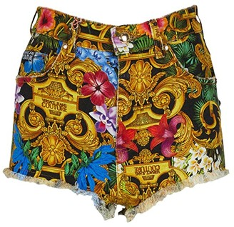 Versace Print Cutoffs Shorts (Tropical Baroque) Women's Shorts