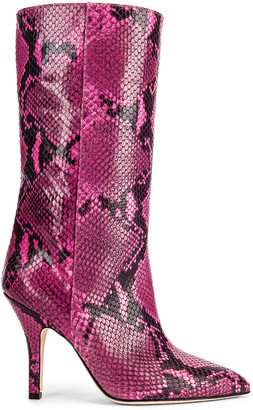 Paris Texas Python Print Midi Boot in Fuchsia | FWRD