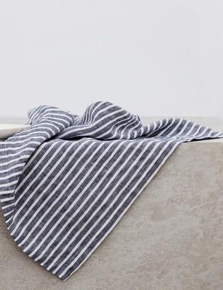 Lulu & Georgia Cultiver Linen Table Napkins, Indigo Stripe (Set of 4)