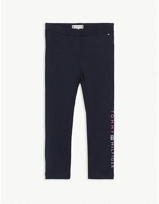Tommy Hilfiger Logo-print cotton-blend leggings 2-16 years