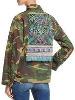 Tricia Fix Embroidered Camo Jacket - 100% Exclusive