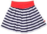 Zutano Navy & White Stripe Circle Skirt - Toddler