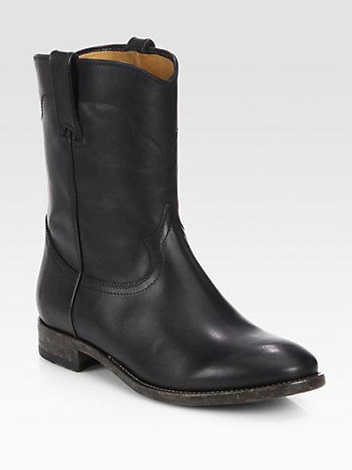 Ralph Lauren Marlow Western Leather Boots