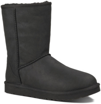 UGG Classic Short Leather Water-Resistant Leather Boot