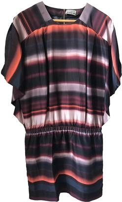 Closed Burgundy Silk Dress for Women