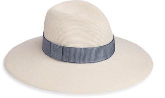 Eugenia Kim Emmanuelle Hemp-Blend Packable Wide-Brim Fedora Hat
