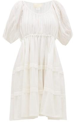 Anaak - Jaipur Pintucked Cotton-voile Dress - White