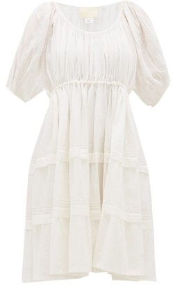 Jaipur Anaak Pintucked Cotton-voile Dress - Womens - White