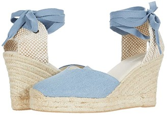 Soludos Mallorca Wedge (Light Blue) Women's Wedge Shoes