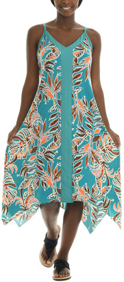 Shoreline Women's Casual Dresses MINT - Mint Palm Leaf Sleeveless Midi Dress - Women