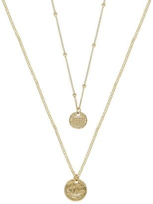 Ettika Classic Gold Coin Necklace Set - Set of 2