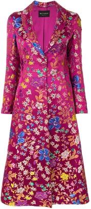 Etro Floral Print Long-Line Jacket