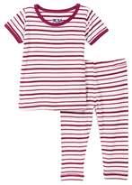 Kickee Pants Short Sleeve Print Pajama 2-Piece Set (Baby Girls)
