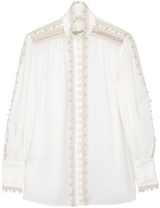 Zimmermann Super Eight ivory ramie blouse