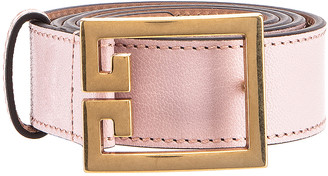Givenchy GV3 Leather Buckle Belt in Pink | FWRD
