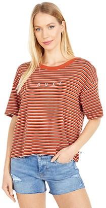 Roxy Infinity Is Beautiful Short Sleeve Tee (Auburn Indie Stripes) Women's Clothing