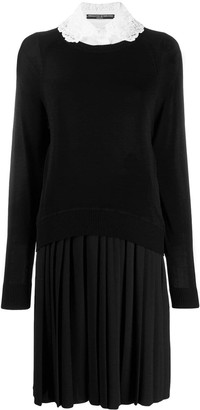 Ermanno Scervino Lace Collar Sweater Dress