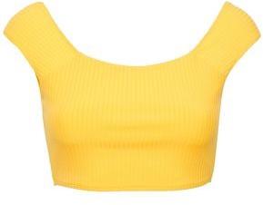 Mara Hoffman Stretch Ribbed-jersey Bikini Top