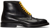 Gucci Black Formal Lace-Up Boots