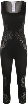 Wolford Paisley Stretch Jersey Jumpsuit