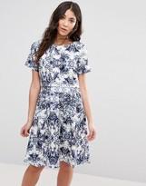 Girls On Film Print Skater Dress