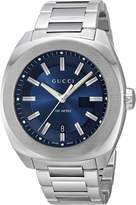 Gucci Men's YA142205 Analog Display Swiss Quartz Silver Watch