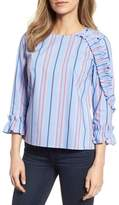 Halogen Ruffle Detail Poplin Shirt